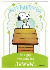 Hallmark Snoopy Grandpa Father's Day Greeting Card w/ Envelope Woodstock Peanuts