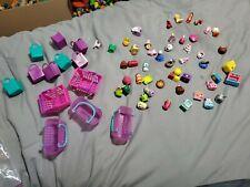 shopkins lot 55+ figures,  8 bags, 5 baskets