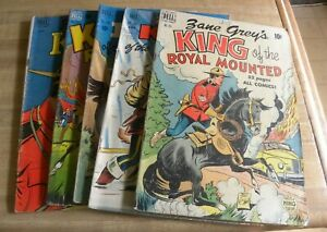 DELL Zane Grey's King of the Royal Mounted Lot 207 265 283 340 384