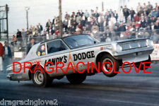 """Dandy Dick"" Landy 1966 Dodge Dart Injected NITRO Funny Car PHOTO!"