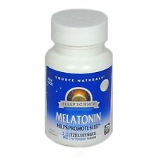 Source Naturals Melatonin Sublingual Peppermint 2.5 mg 120 Tablets/Lozenges