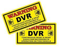 2 Pcs WARNING DVR Dash Cam Camera Recording Safety Insurance car sticker decals