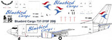 Bluebird Boeing 737-300F freighter decals for Minicraft 1/144 kit