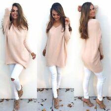 Women's Baggy Long Batwing Top Oversized Casual Wear Long Sleeve Ladies Sweater