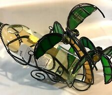Stained Glass Double  Palm Tree Wine Bottle Holder 9007-14