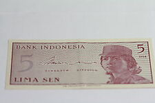 1964  5 SEN Specimen Note about Uncirculated Indonesia