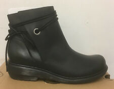 DR. MARTENS SHELBY BLACK OILY ILLUSION  LEATHER  BOOTS SIZE UK 9