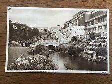 1957 B/W Postcard ROCK GARDEN & PAVILLION BOURNEMOUTH DORSET Real Photo posted