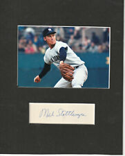 Mel Stottlemyre Signed matted with photo FRAME SIZE 8X10 COA MY20 Choice of 2