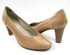 AGL Nude Patent Leather Tan Pump 9 Nude Heels  39 Attilio Giusti Leombruni Italy