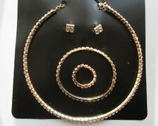 Robe De Mariage Bijoux Diamond Shine 1 Row cristal Choker Collier Set — C1