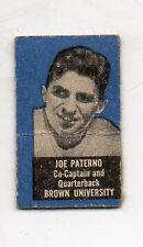 1950 Topps Feltback Football Card #64 Joe Paterno-Penn State