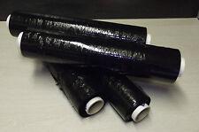 Lot de 4 rouleaux de film étirable noir 17 µ 45 cm x 300 ml pour emballage