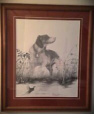 Artist Proof Remarque of Hunting Scene 1989 Framed And Matted - Richard Mitchell