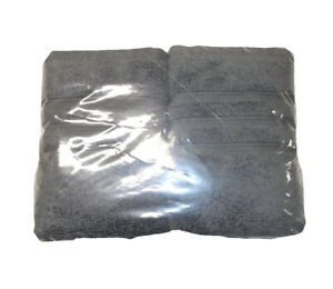 NEW HOTEL COLLECTION MICRO COTTON SMOKE GRAY HAND TOWEL SET OF 2