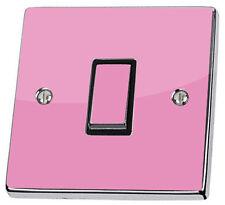 Pegatinas y plantillas de pared color principal rosa para el dormitorio