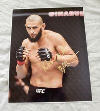 Khamzat Chimaev Signed 16x20 Photo UFC MMA *PROOF* Dana White Borz Smash ESPN +