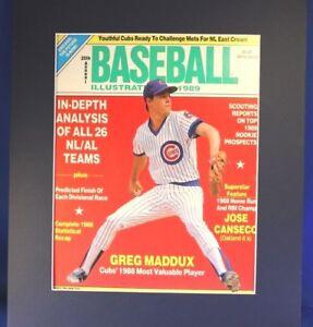 1989 Greg Maddux Chicago Cubs Org Baseball Illustrated PhotoArt Mat Frame Option