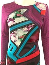 Beautiful Mary Katrantzou Dress Size Small. Silk. Multi-colored. Long Sleeves