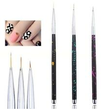 3 PC/SET Nail Art Stripes Lines Flower Painting Drawing Liner Brush Pen sET T