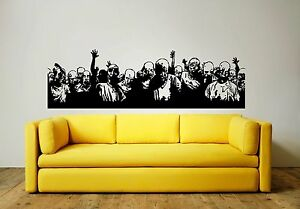ZOMBIES (WALKING DEAD) Wall Art Sticker, Decal, Mural. Two great size choices