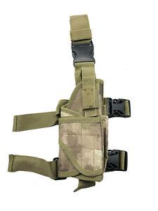 Universal Waffenholster Oberschenkel WH01 Softair Pistole Beig Braun Tarnung