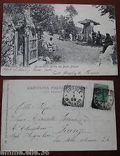 CARTOLINA 1908 TOSCANA FIRENZE FIESOLE MONTESINARIO GROTTA BEATO ALESSIO ANIMATA