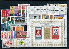 TURCHIA-TURKEY  1981 annata completa 41v +2bf mnh