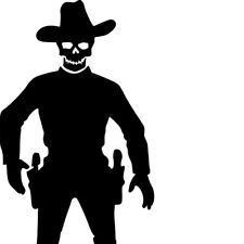 SCARY COWBOY STENCIL - RE-USABLE 6 X 9.5 INCH