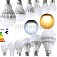 E27 B22 3/5/7/9/12/15W Energy Saving LED Light Lamp Bulb  Warm Cool White 220V
