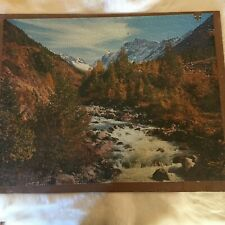 MOUTAINS WATERFALL Jigsaw Puzzle est. 1000 Pieces VINTAGE
