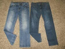 MENS AMERICAN EAGLE ORIGINAL STRAIGHT LEG / BOOT CUT JEANS LOT sz 33x32 aeo flex