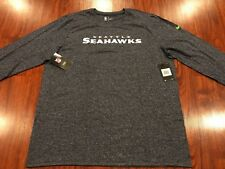 Nike Men's Seattle Seahawks Stadium Long Sleeve Wordmark Jersey Shirt XXL 2XL