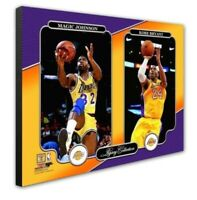 Los Angeles Lakers Kobe Bryant Magic Johnson 16x20 Photo Picture framed  Canvas