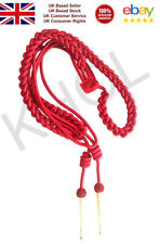 Aiguillette in Red Silk with Gold Tags for Army Air Force Navy Marching Band