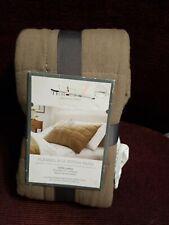 Threshold Quilted Box Stitch Flannel Cotton One Standard Sham Brown