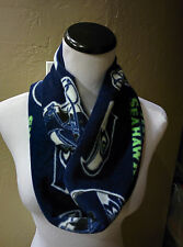 "Seattle Seahawks  Handcrafted Fleece ""Rally Scarf ""     (Infinity Style)"