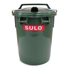 Mülltrennung Mini Mülleimer Abfallbox mit Alu-Verschlussbügel 35 L grün.