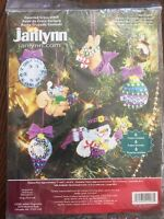 Janlynn Frosty's Ornament Collection Set of 6 Counted Cross Stitch Kit Chr