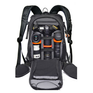 Large Camera Backpack Laptop Bag Insert Case For DSLR SLR Canon Nikon Sony Lens