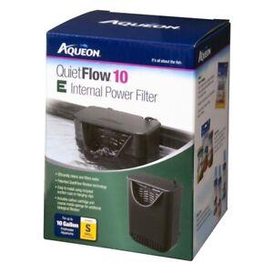 Aqueon QuietFlow 10 E Internal Power Filter 10gal SM  Free Shipping