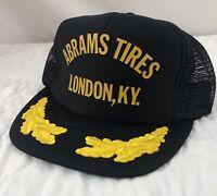 Vtg Abrams Tires Hat Cap Trucker Snapback London Kentucky Scrambled Eggs Mesh