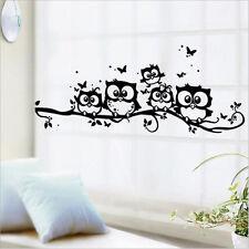 Wall stickers Kids Vinyl Art Cartoon Owl Butterfly Wall Sticker Decor Home Decal