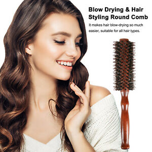 Bristle Round Hair Brush Anti-Static Comb Hairdressing Styling Tool