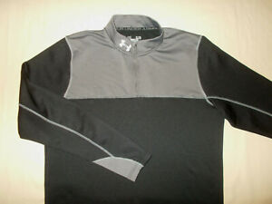 UNDER ARMOUR COLD GEAR 1/4 ZIP LONG SLEEVE BLACK PULLOVER MENS XL EXCELLENT COND