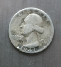 Us 1941 Washington Silver 25c Quarter