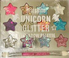 Nwt Justice Girl's Unicorn Glitter Eye Shadow Palette N Brush Sparkle Bling New