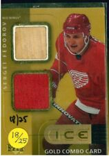 2001-02 Upper Deck Ice Jersey Combos Gold #SF Sergei Fedorov 18/25