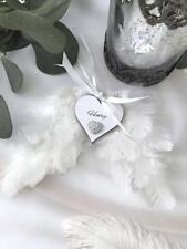 Personalised Feather Wings Bereavement Memorials Christmas P06