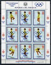PARAGUAY 1986 Olympiade Olympics Calgary 4001 Kleinbogen ** MNH